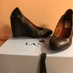 Authentic Lanvin  leather wedges EU36